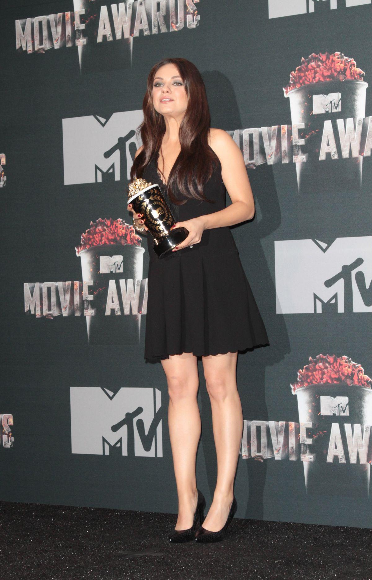 MILA KUNIS At MTV Movie Awards 2014 In Los Angeles