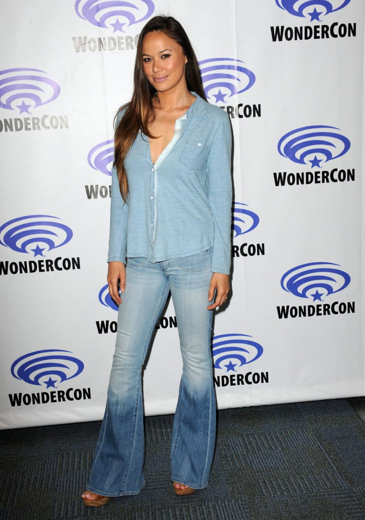 MOON BLOODGOOD at Falling Skies Press Line at Wondercon in Anaheim