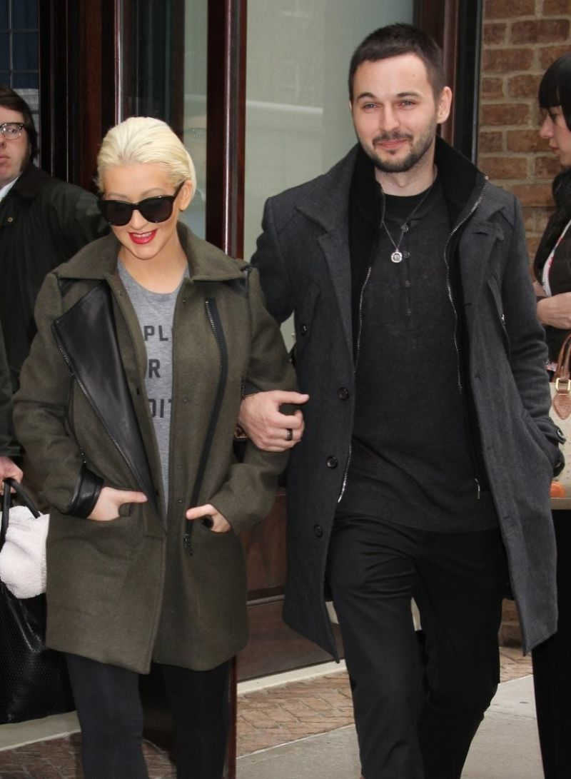 Pregnant CHRISTINA AGUILERA and Matthew Rutler Out in New York