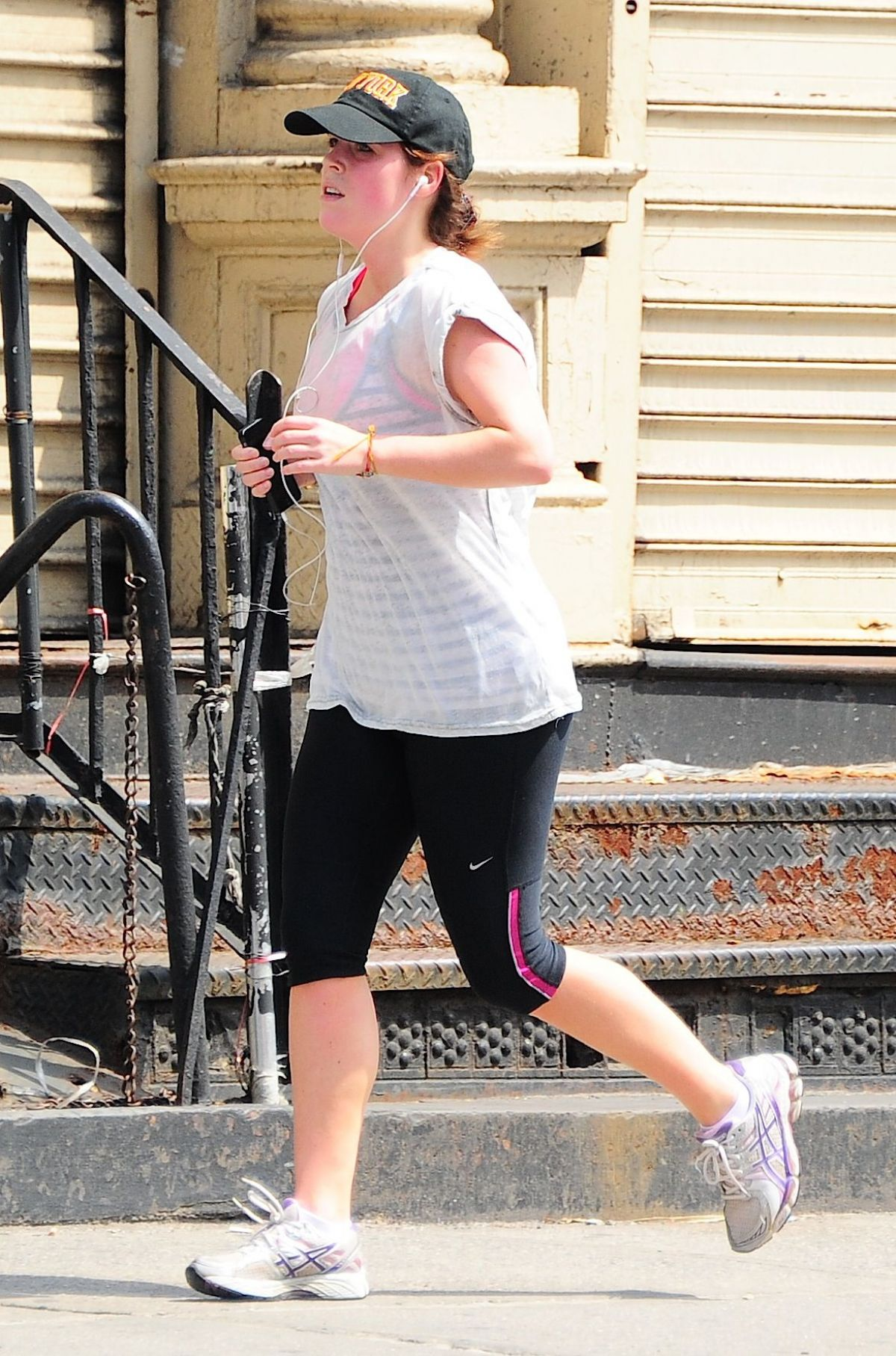 PRINCESS EUGENIE in Leggings Out Jogging in Brooklyn