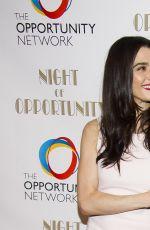 RACHEL WEISZ at Night of Opportunity Gala