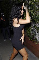 RIHANNA in Tight Short Dress Arrives at Giorgio Baldi Restaurant in Santa Monica