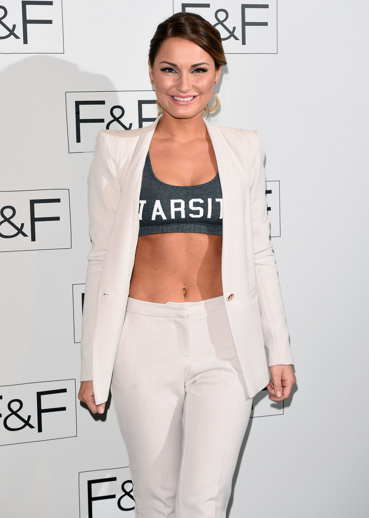 SAM FAIERS at F&F 2014 Fashion Show in London