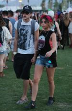 SARAH HYLAND Out and About in Coachella