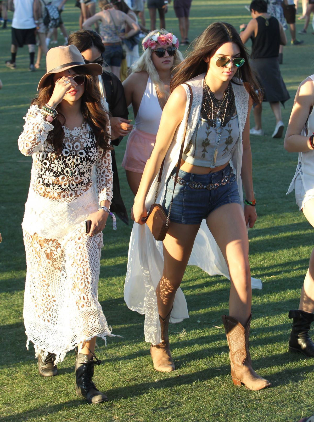 SELENA GOMEZ and Friends Out and About at Coachella