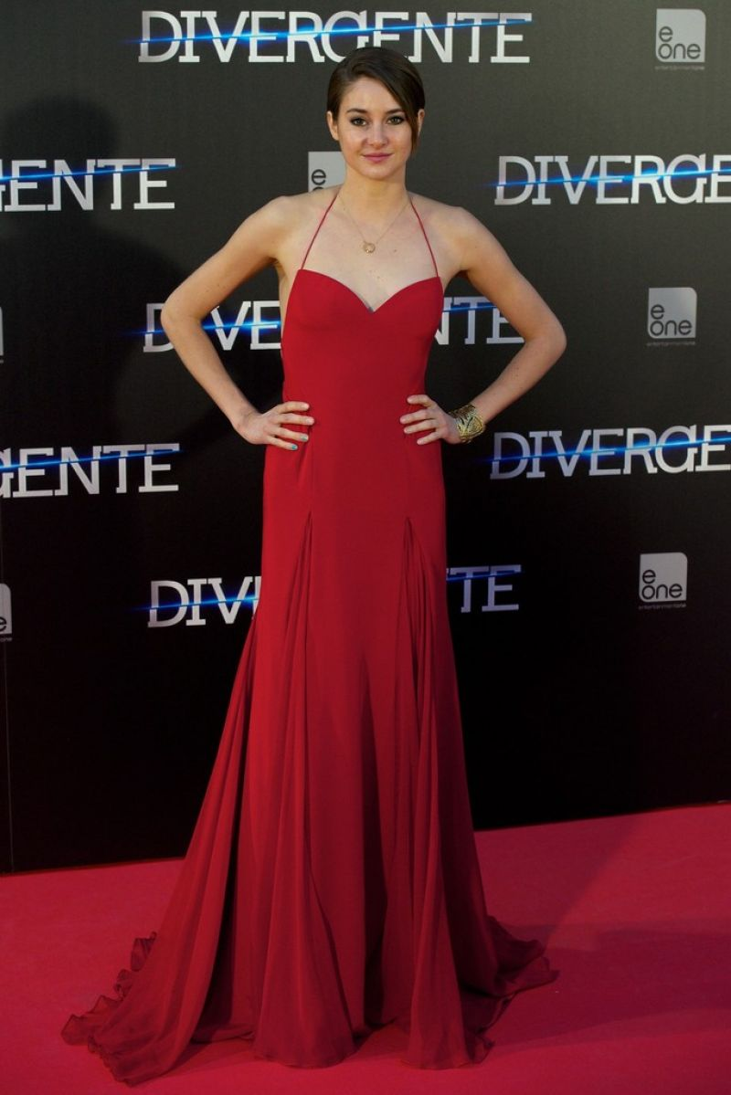 SHAILENE WOODLEY at Divergent Premiere in Madrid