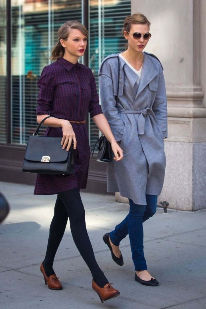 TAYLOR SWIFT and KARLIE KLOSS Out and About in New York