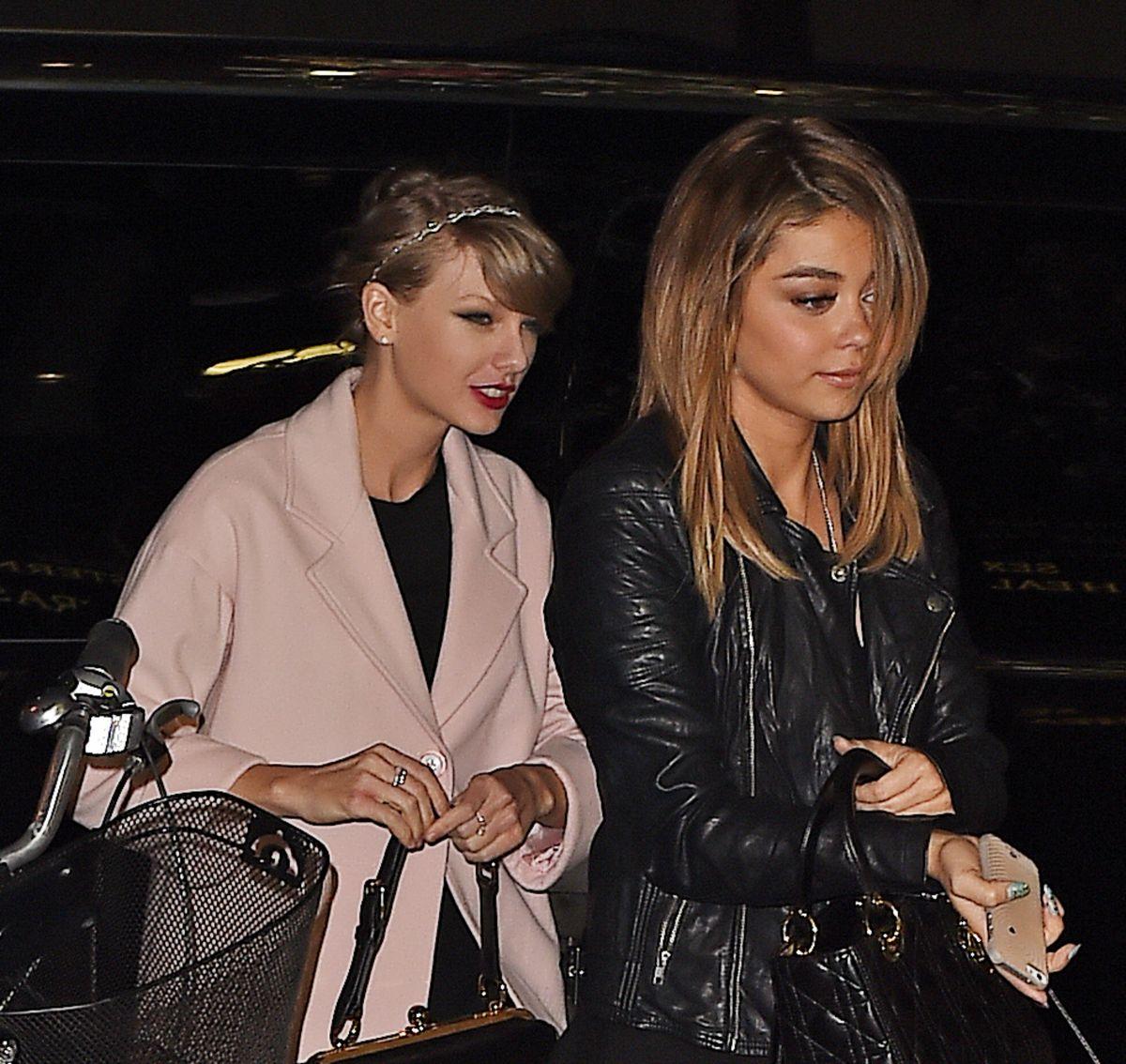 Taylor swift and sarah hyland leaves koi restaurant in new for Koi restaurant los angeles