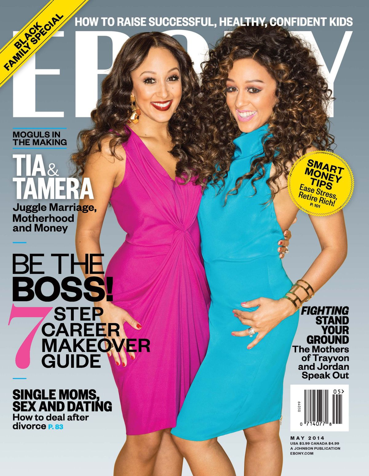 TIA and TAMERA MOWRY in Ebony Magazine, May 2014 Issue
