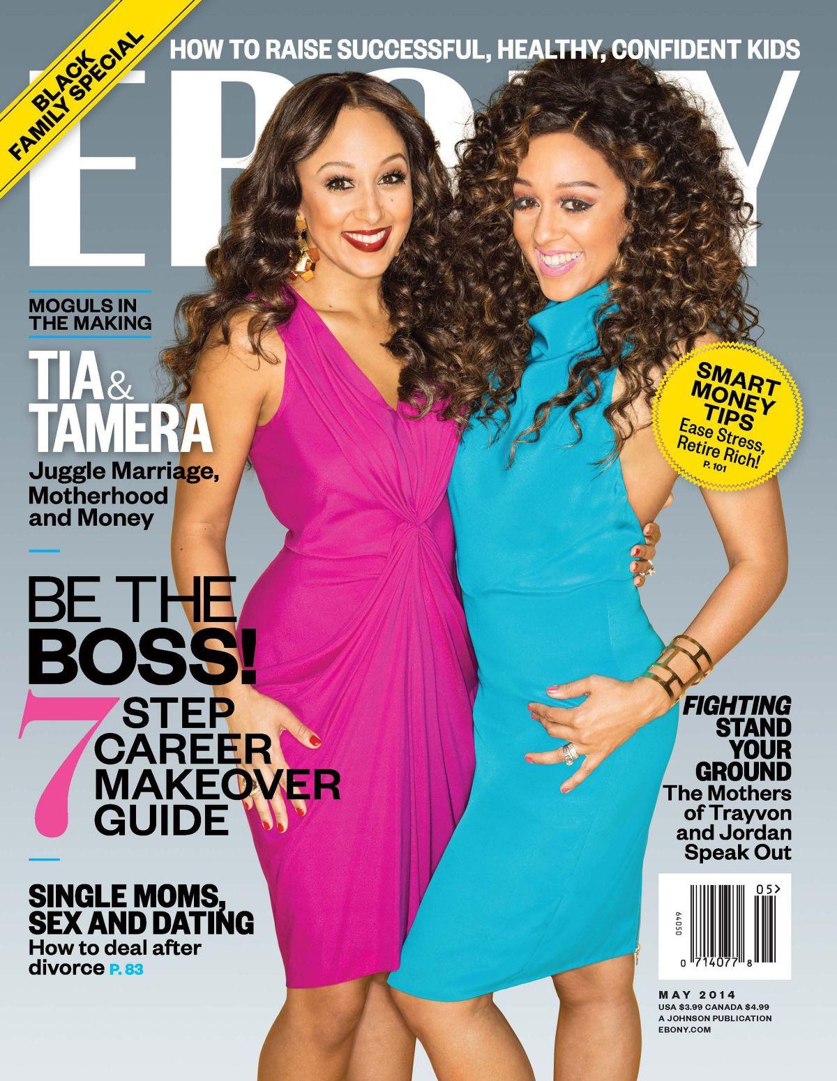 TIA and TAMERA MOWRY in Ebony Magazine, May 2014 Issue