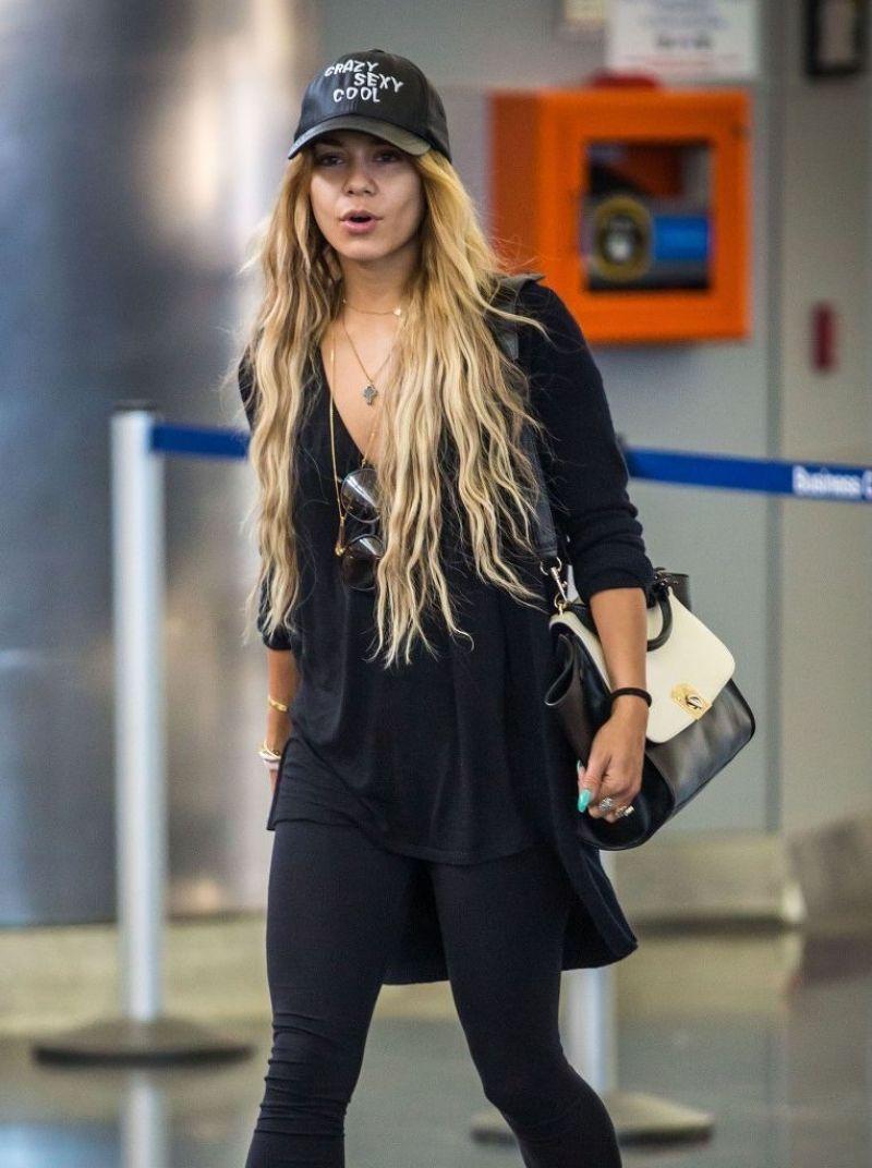 VANESSA HUDGENS Arrives at JFK Airport in New York