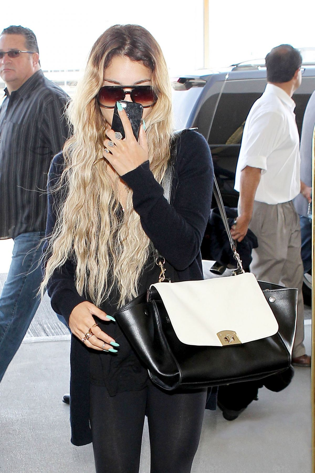 VANESSA HUDGENS Arrives at LAX Airport in Los Angeles 2304