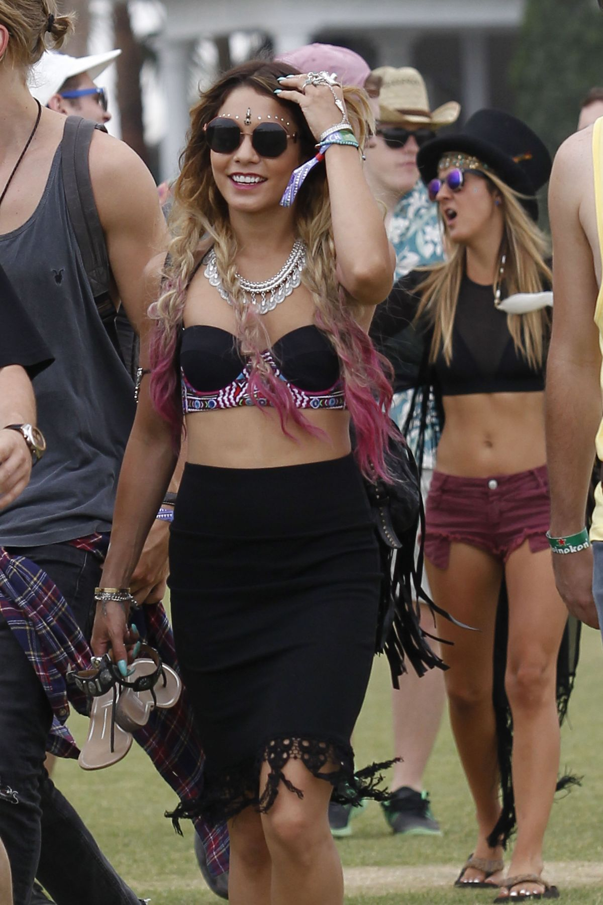 VANESSA HUDGENS Out at Coachella Festival