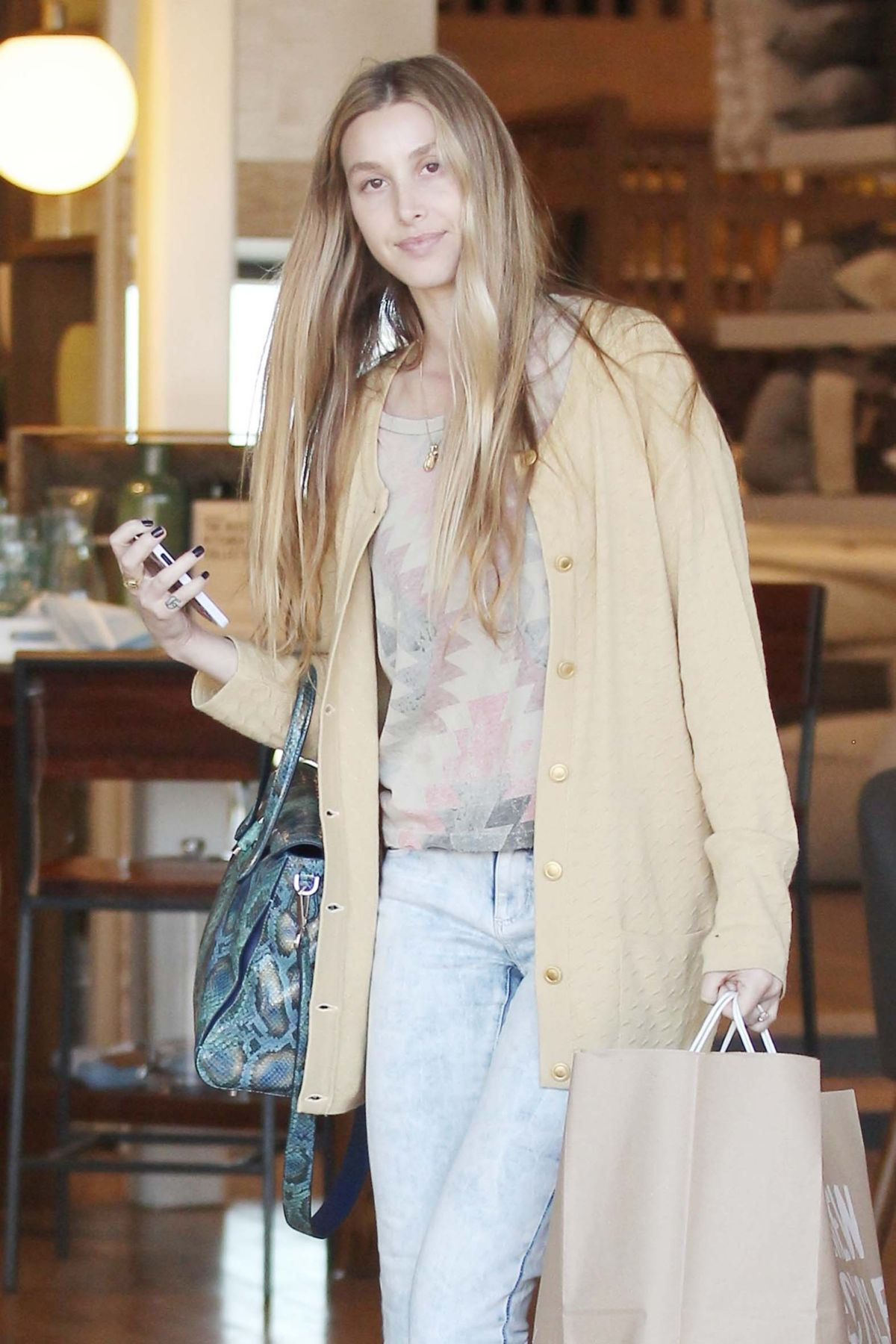WHITNEY PORT Shopping at West Helm in Beverly Hills