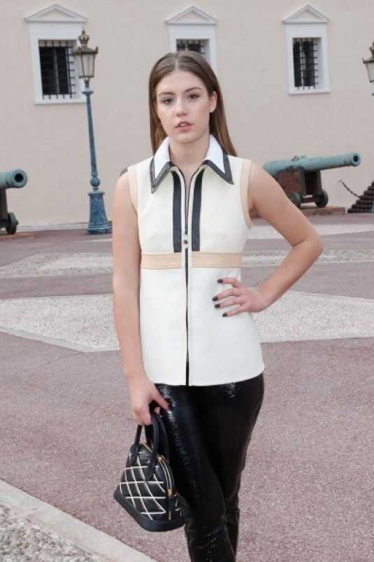ADELE EXARCHOPOULOS Arrives at Louis Vuitton Fashion Show in Monte Carlo