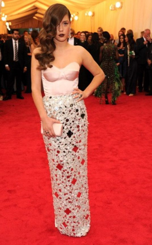 ADELE EXARCHOPOULOS at MET Gala 2014 in New York