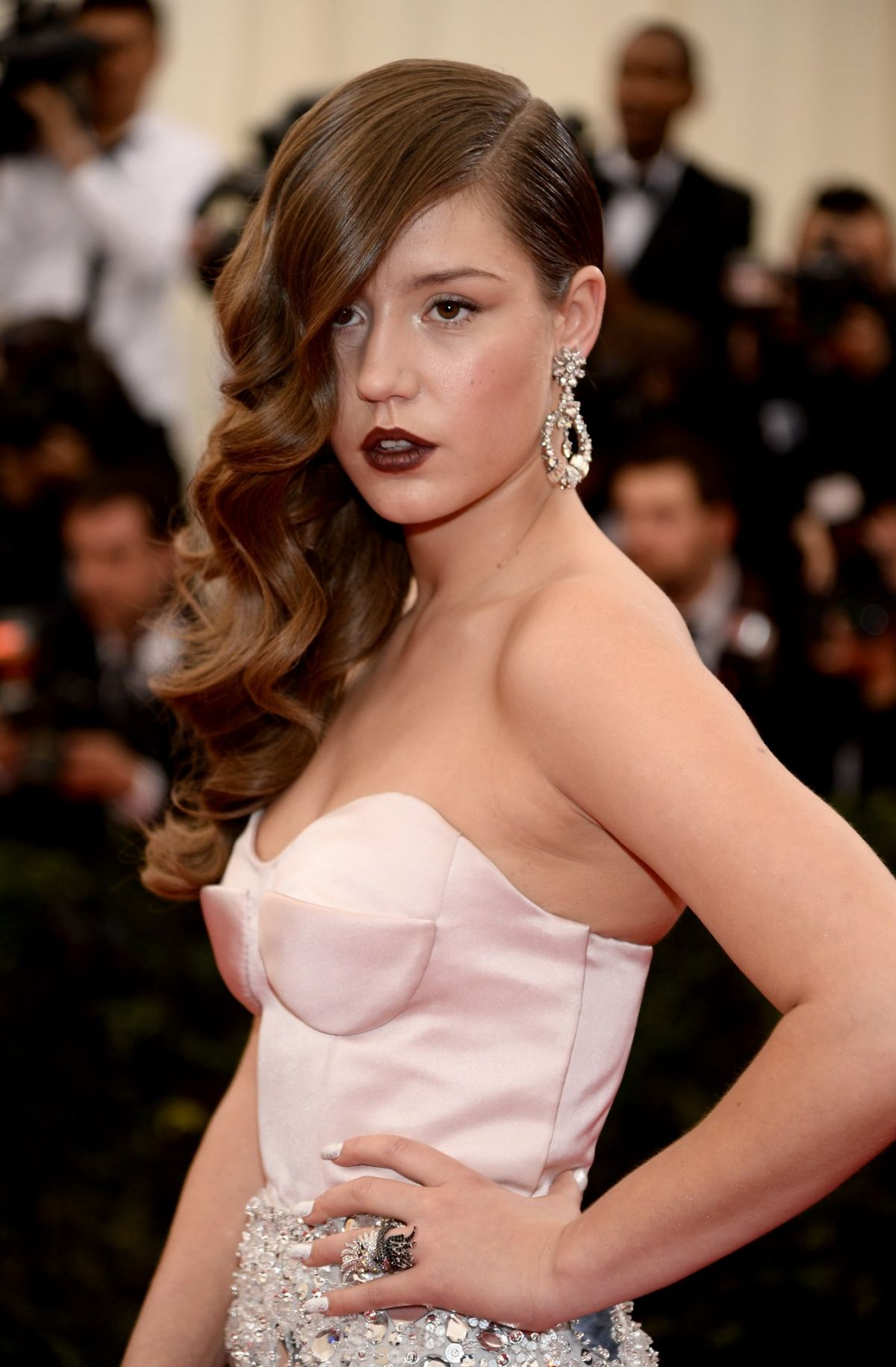 ADELE EXARCHOPOULOS at MET Gala 2014 in New York - HawtCelebs