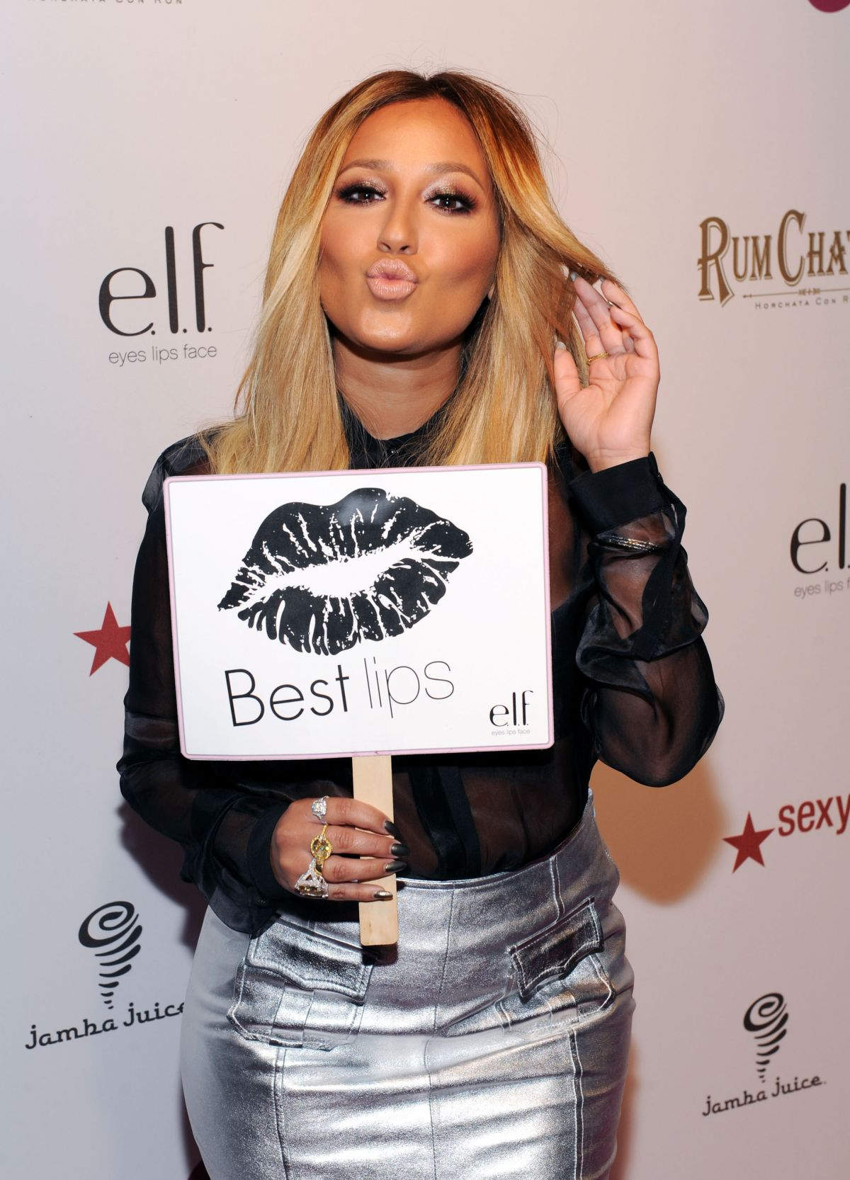 ADRIENNE BAILON at OK Magazine's Party in Los Angeles