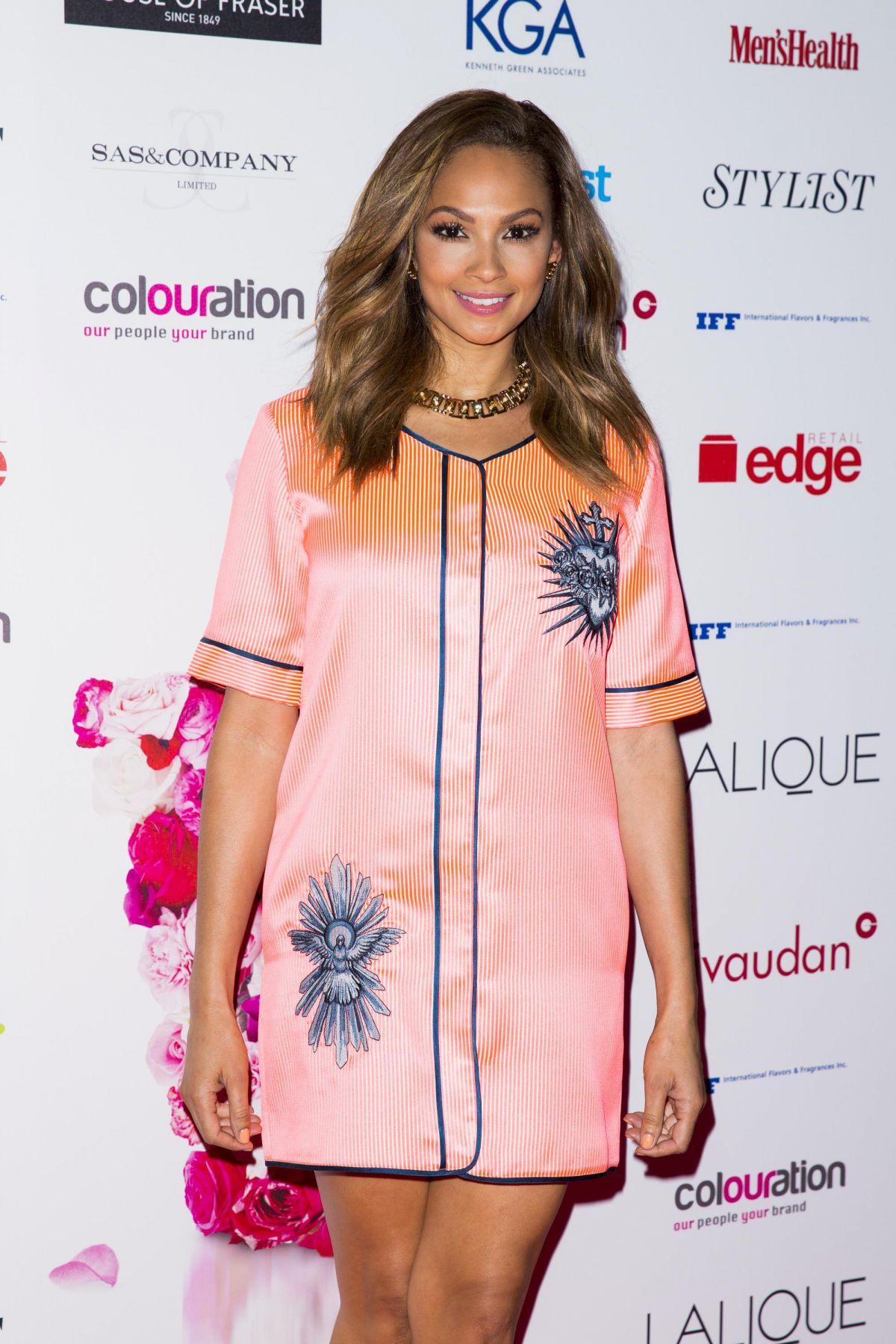 ALESHA DIXON at Fifi UK Fragrance Awards in London