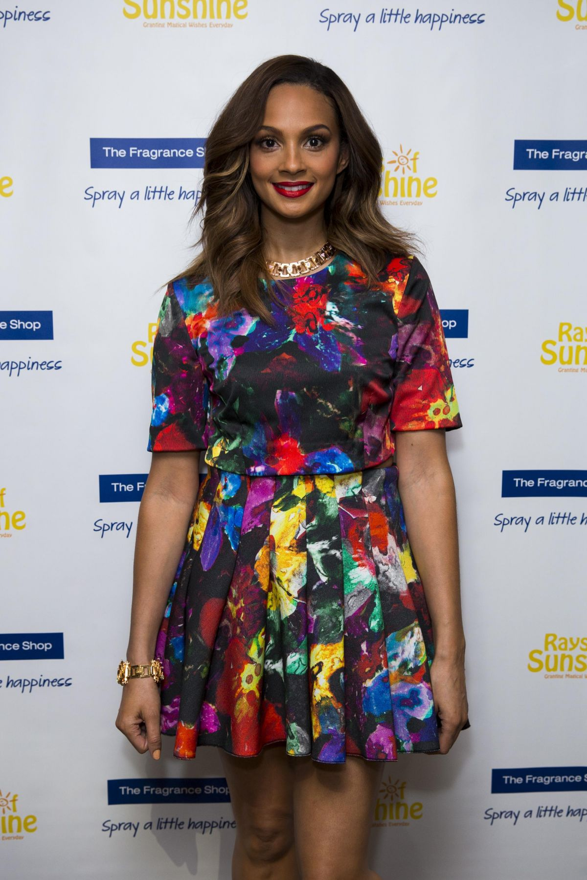 ALESHA DIXON at Tays of Sunshine Charity Concert in London
