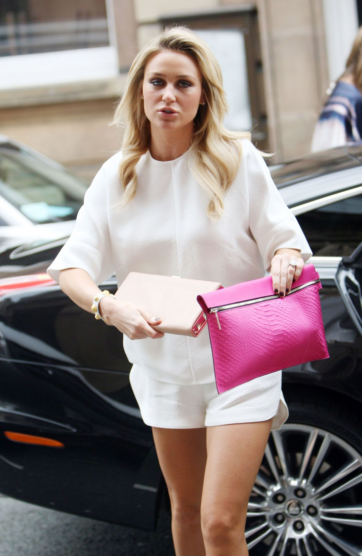 ALEX GERRARD Arrives to Sheree Murphy Welcome Home Party