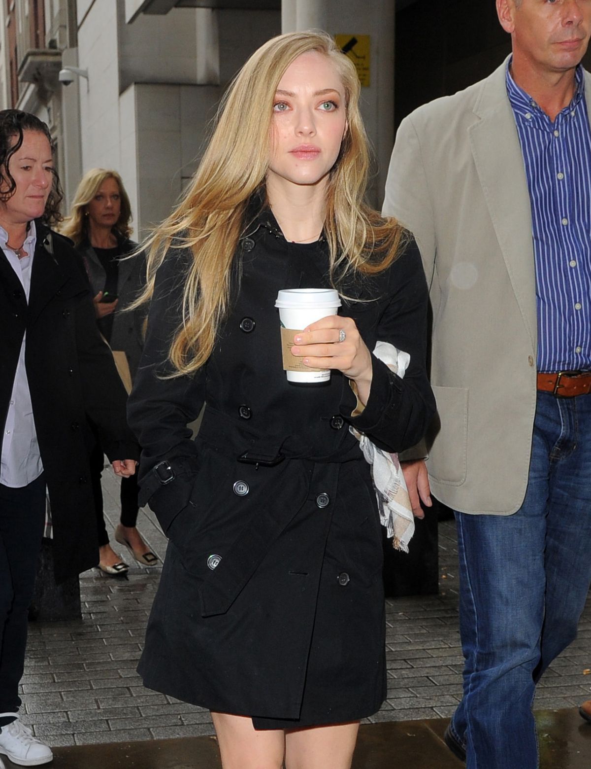 AMANDA SEYFRIED Arrives at BBC Radio 1 Studios in London