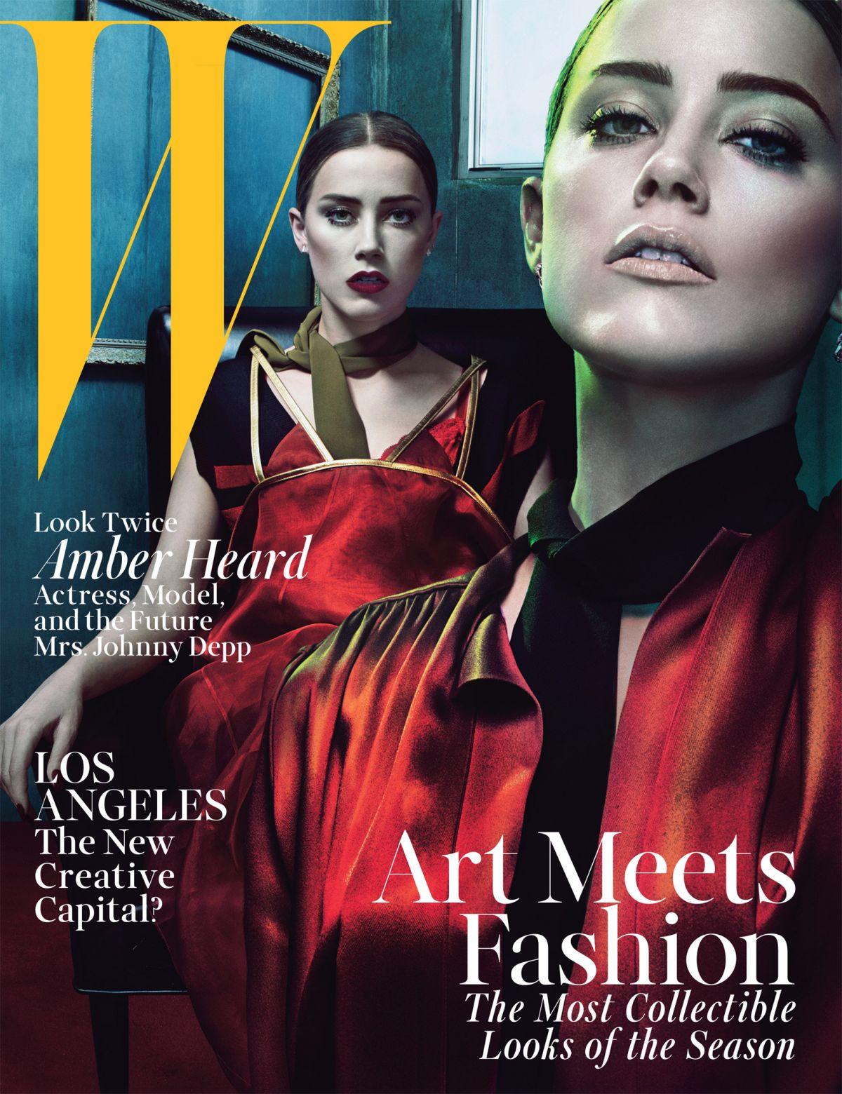 AMNER HEARD in W Magazine, June/July 2014 Issue