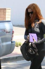 AMY ADAMS in Leggings Out in Los Angeles