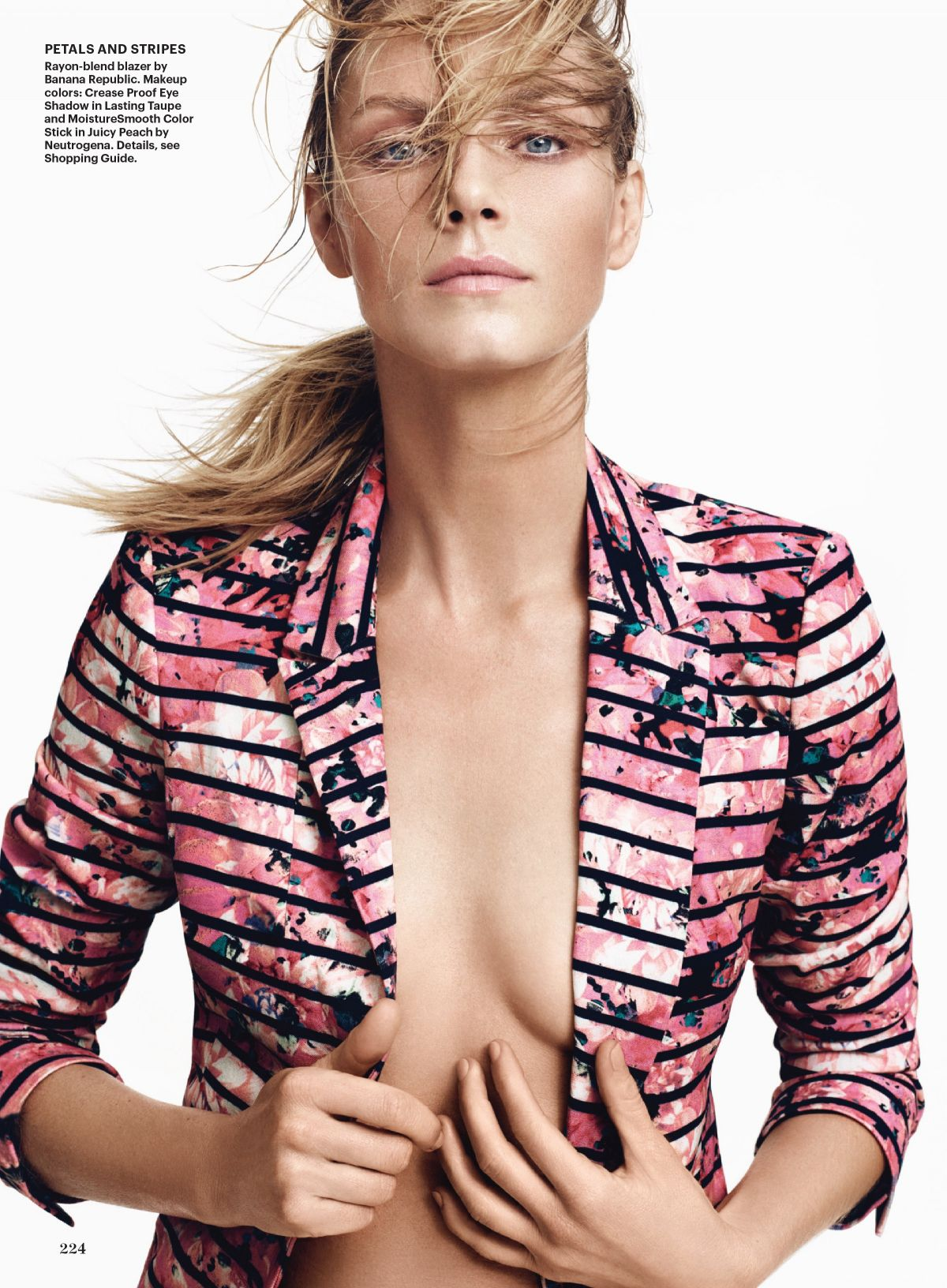 ANGELA LINDVALL in Allure Magazine, May 2014 Issue