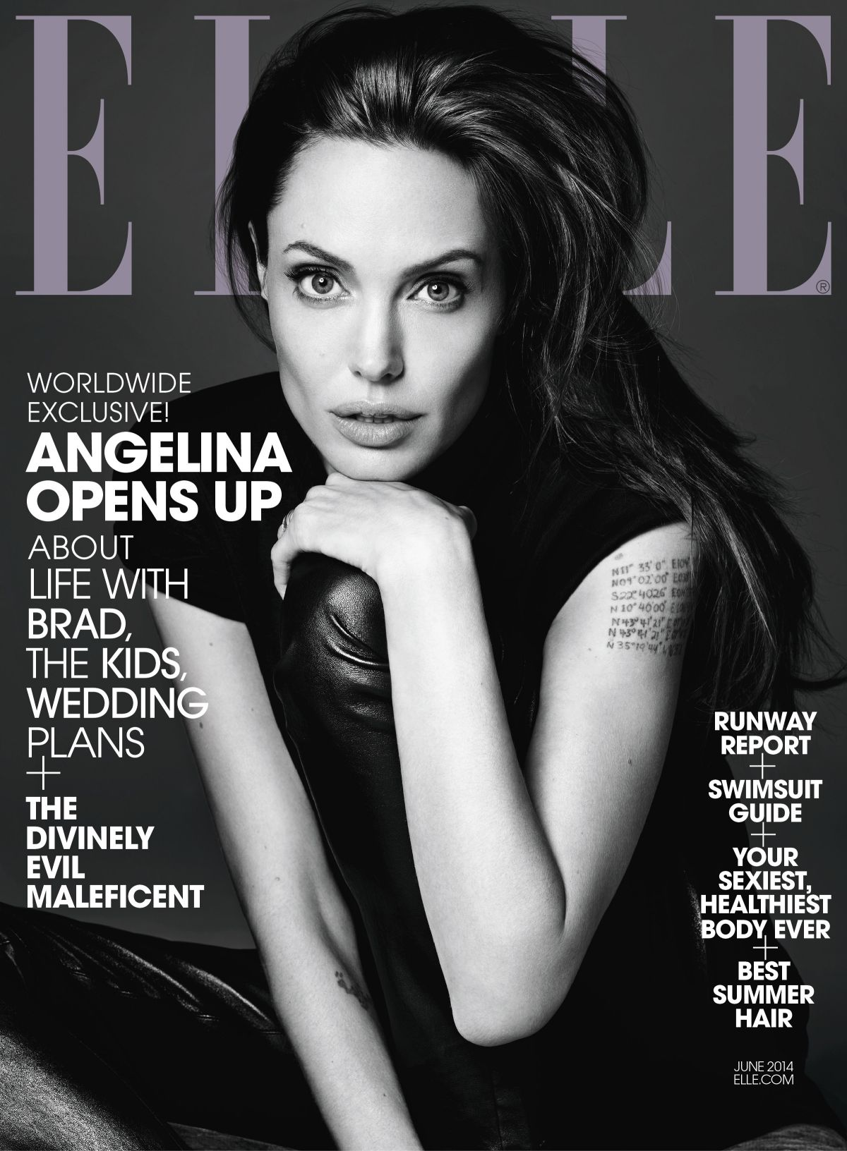 ANGELINA JOLIE in Elle Magazine, June 2014 Issue