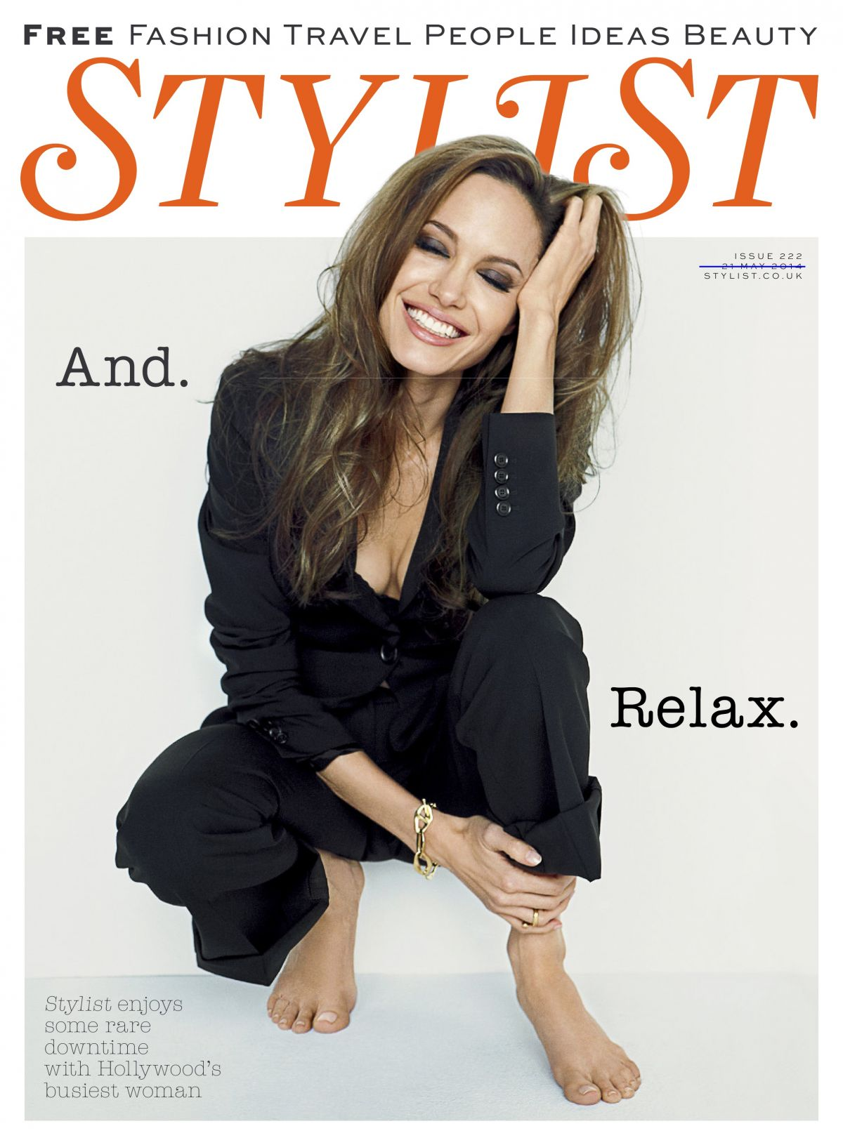 ANGELINA JOLIE in Stylist Magazine, May 21st 2014 Issue