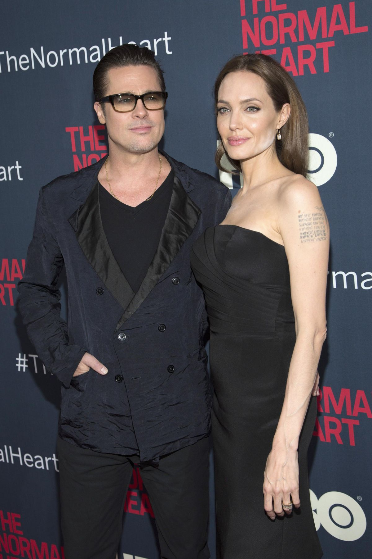 ANGELINA JOLIE nad Brad Pitt at The Normal Heart Premiere in New York