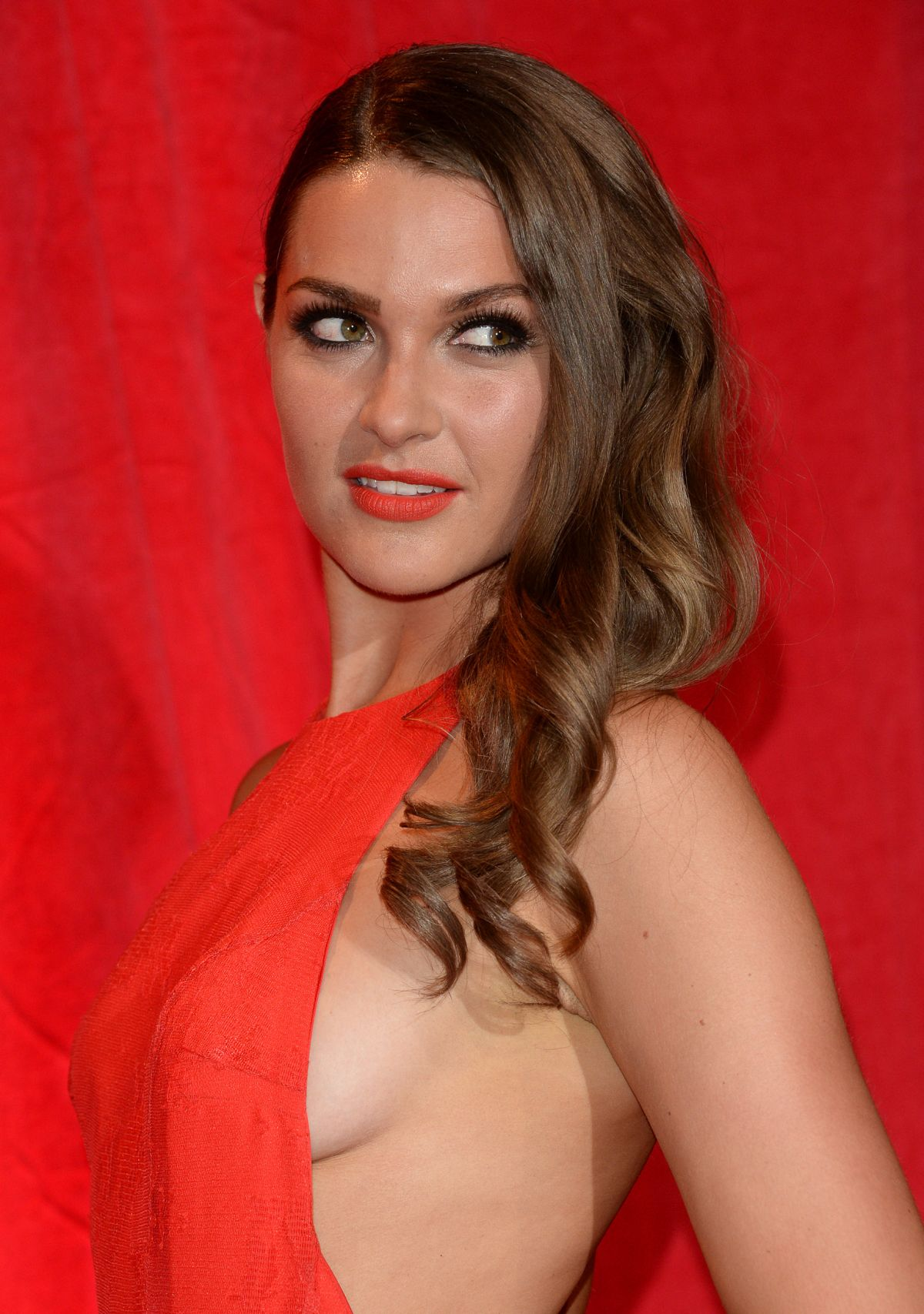 ANNA PASSEY at British Soap Awards 2014 in London