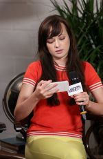 ASHLEY RICKARDS at Variety Studio in West Hollywood