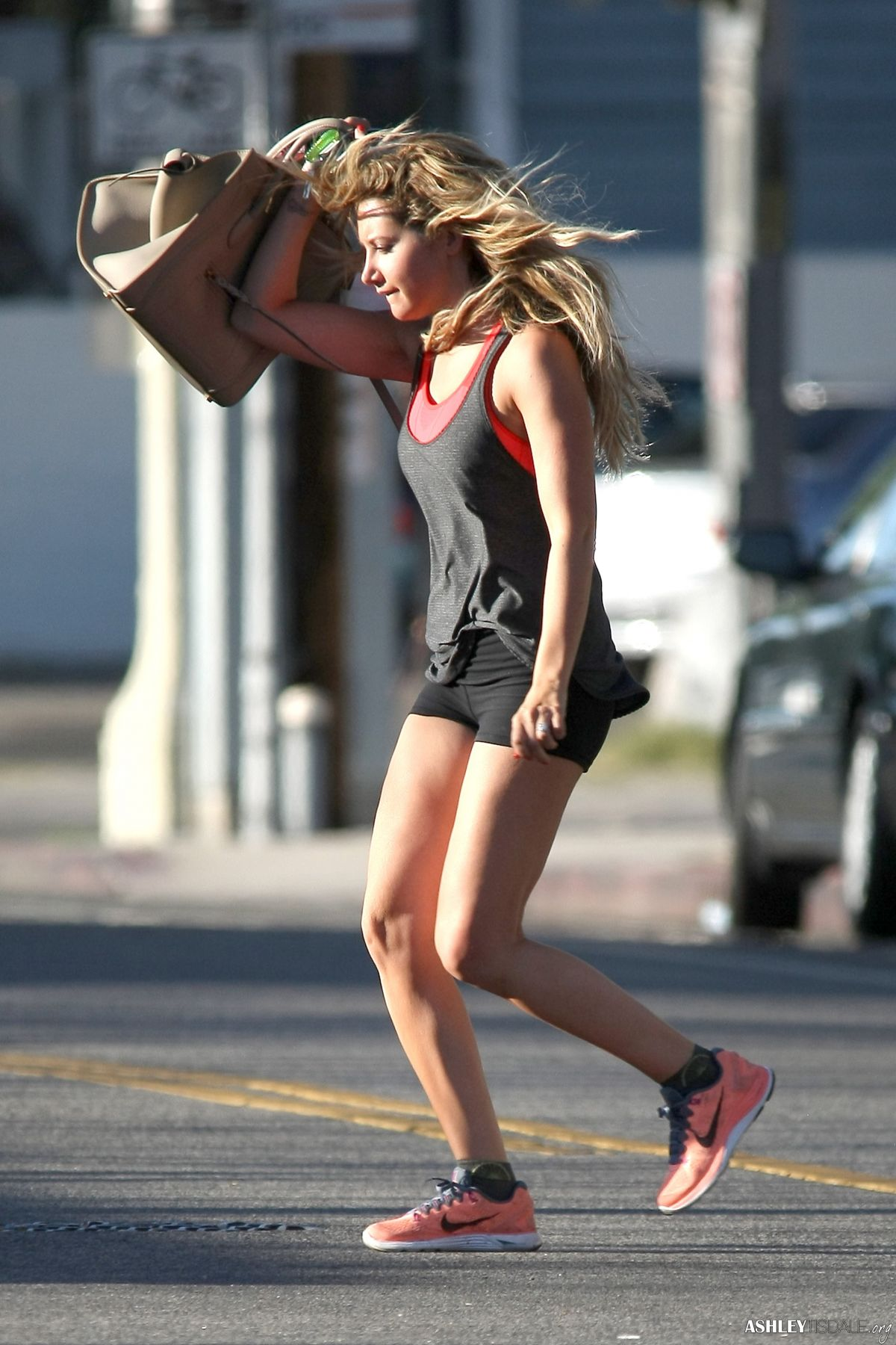 Ashley Tisdale In Short Shorts Leaves A Gym In Los Angeles