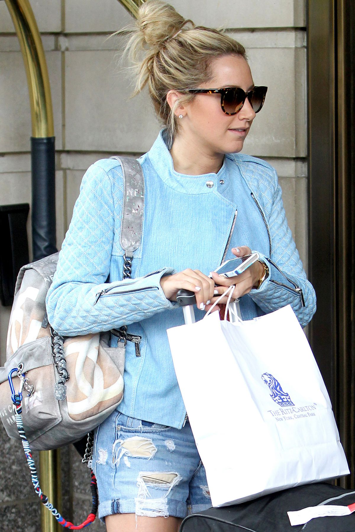 ASHLEY TISDALE Leaves Her Hotel in New York