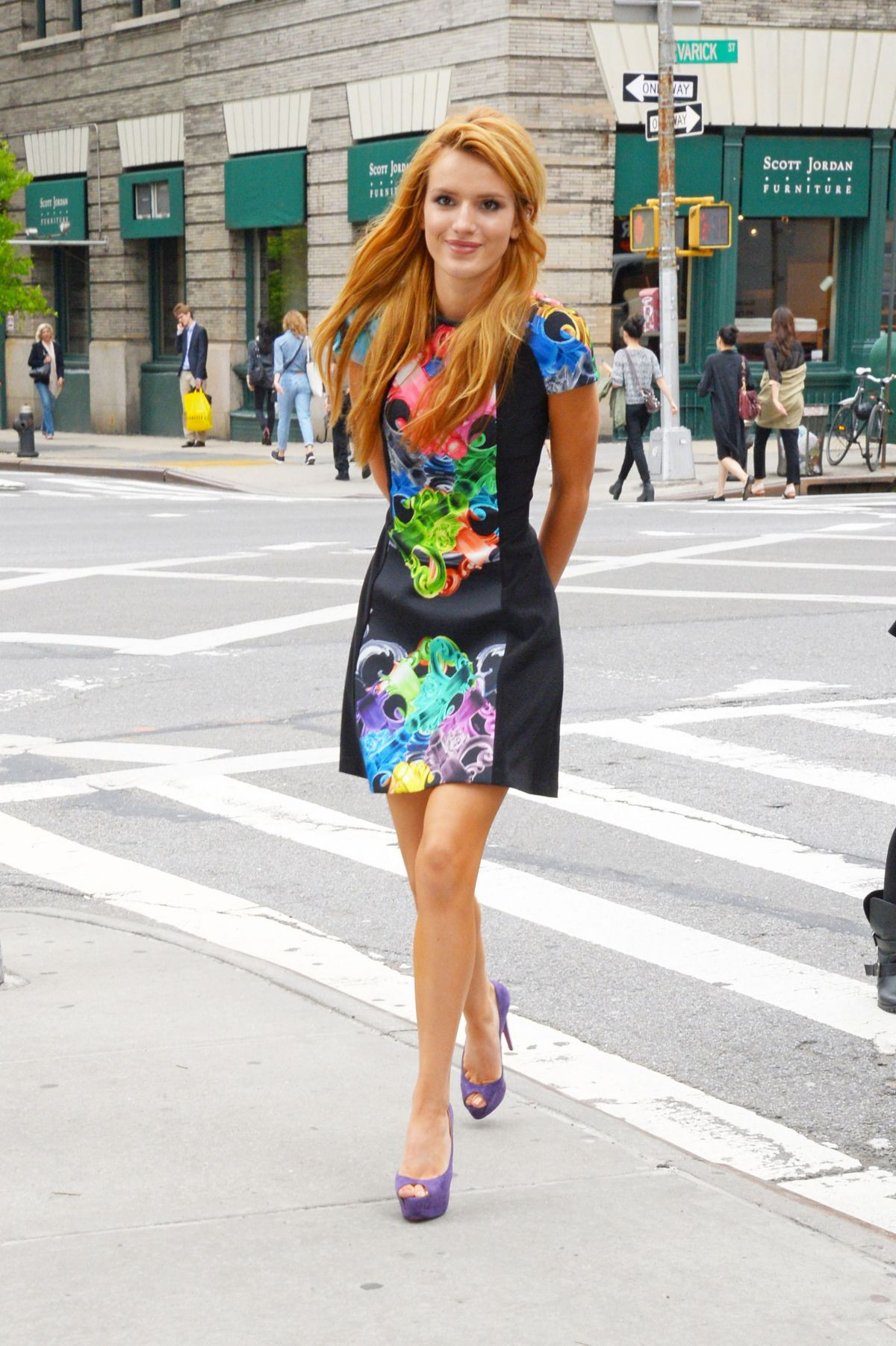 BELLA THORNE Arrives at Her Hotel in New York
