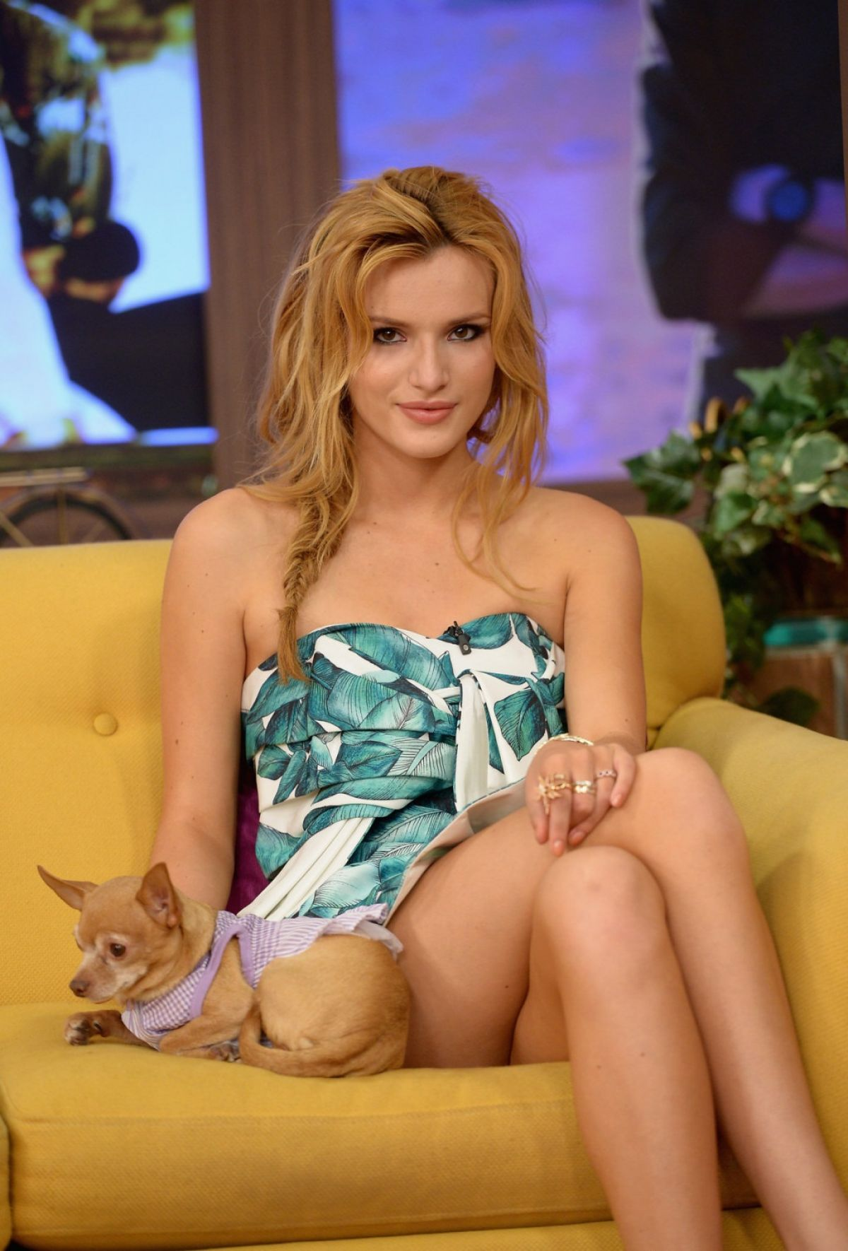 BELLA THORNE at Univision Headquarters in Miami