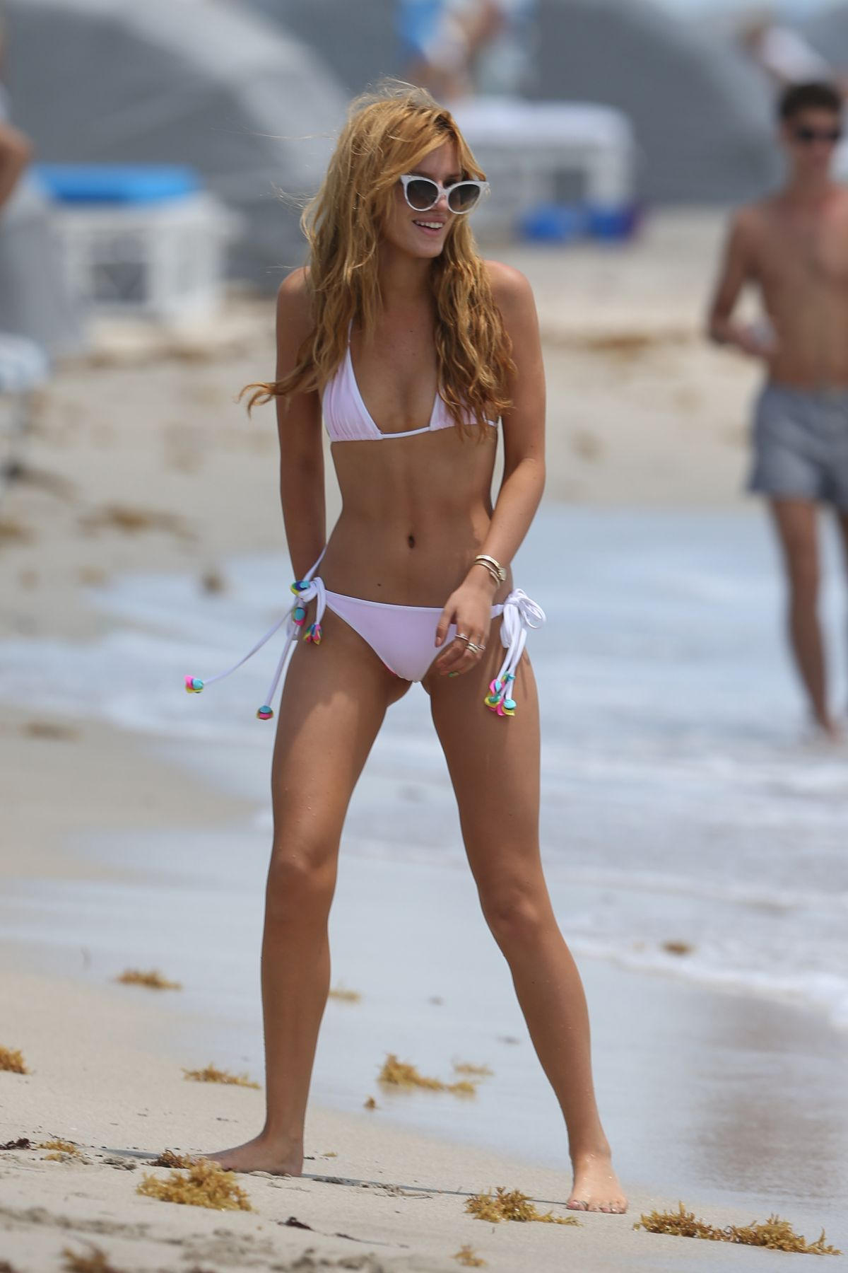 BELLA THORNE in Bikini at a Beach in Miami