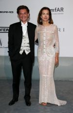 CAROLE BOUQUET at AMFAR's 21st Cinema Against Aids Gala in Cap D'Antibes
