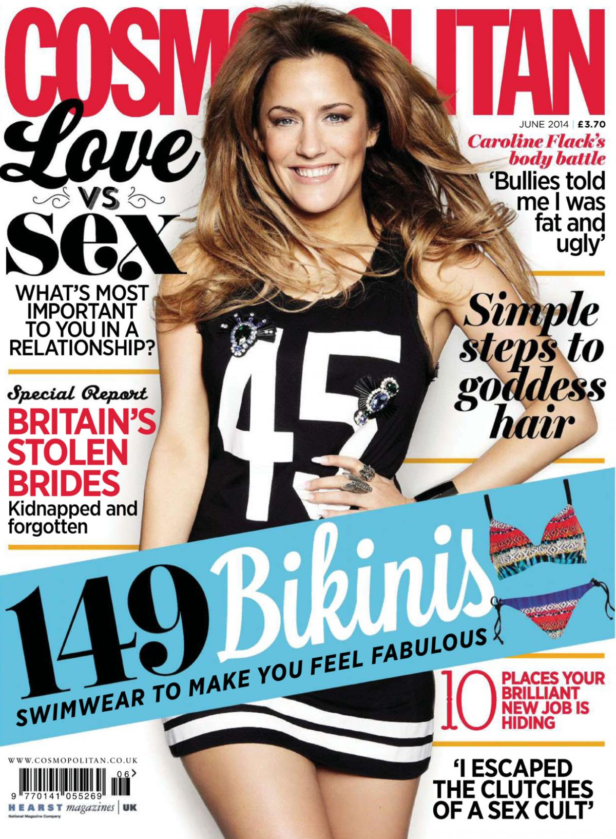 CAROLINE FLACK in Cosmopolitan Magazine, June 2014 Issue