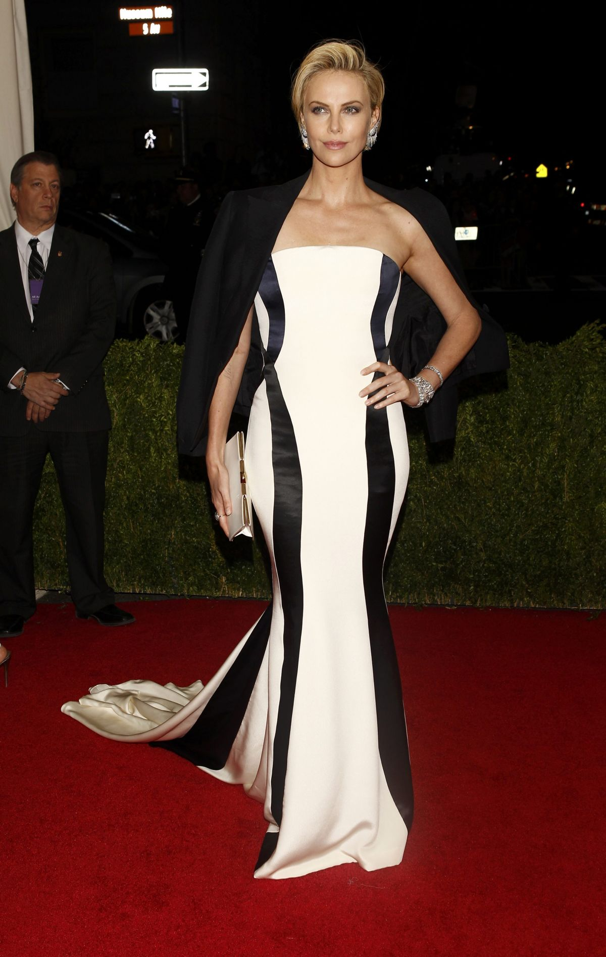 CHARLIZE THERON at MET Gala 2014 in New York