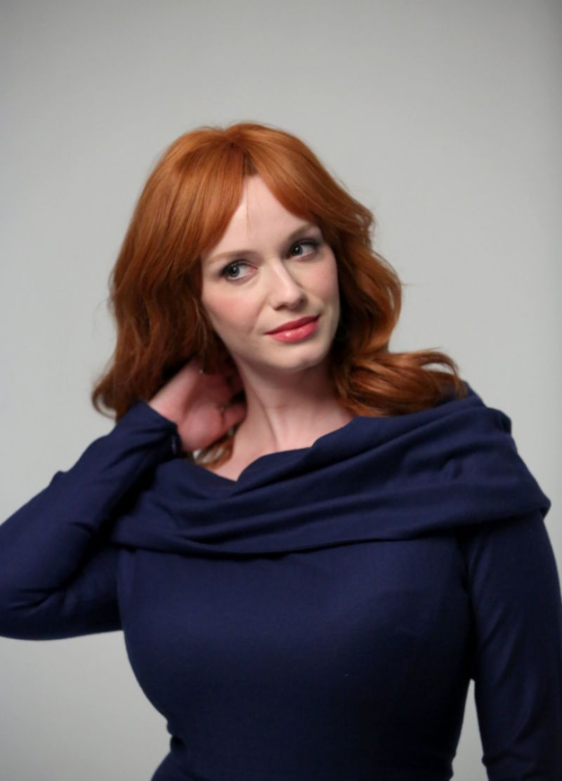 CHRISTINA HENDRICKS at Variety Studio in West Hollywood