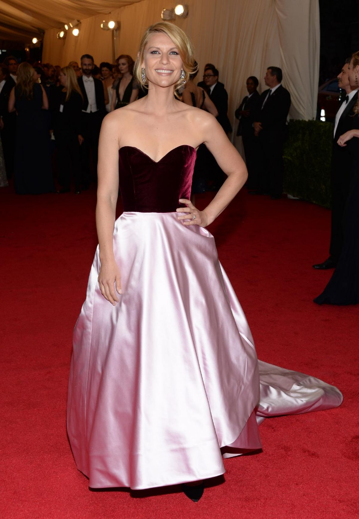Claire Danes At Met Gala  In New York Hawtcelebs