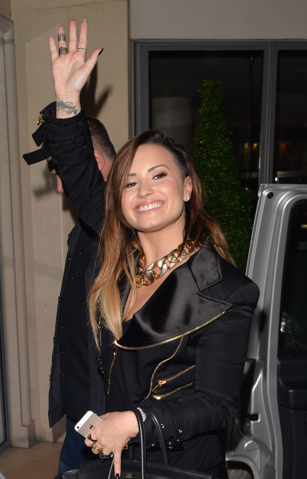 DEMI LOVATO Arrives at Her Hotel in London