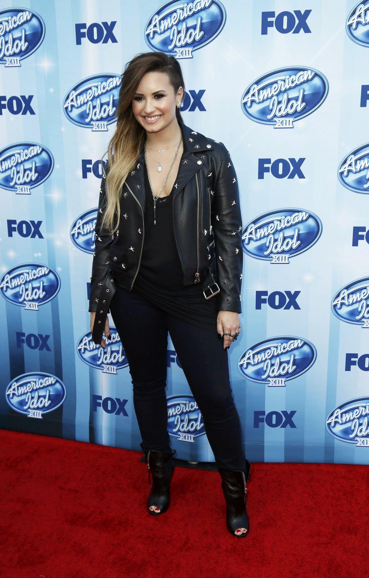 DEMI LOVATO at American Idol 2014 Season Finale in Los Angeles