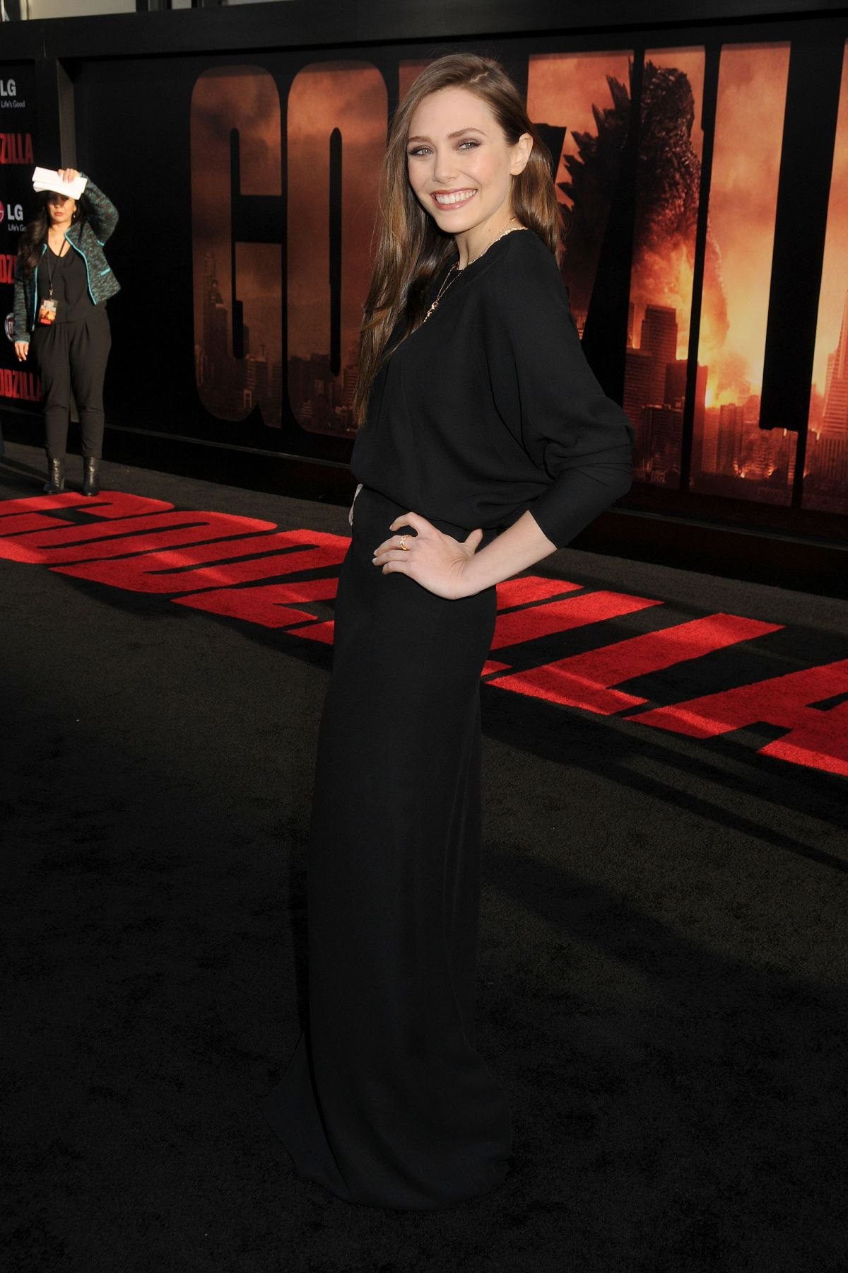 Elizabeth Olsen At Godzilla Premiere In Los Angeles