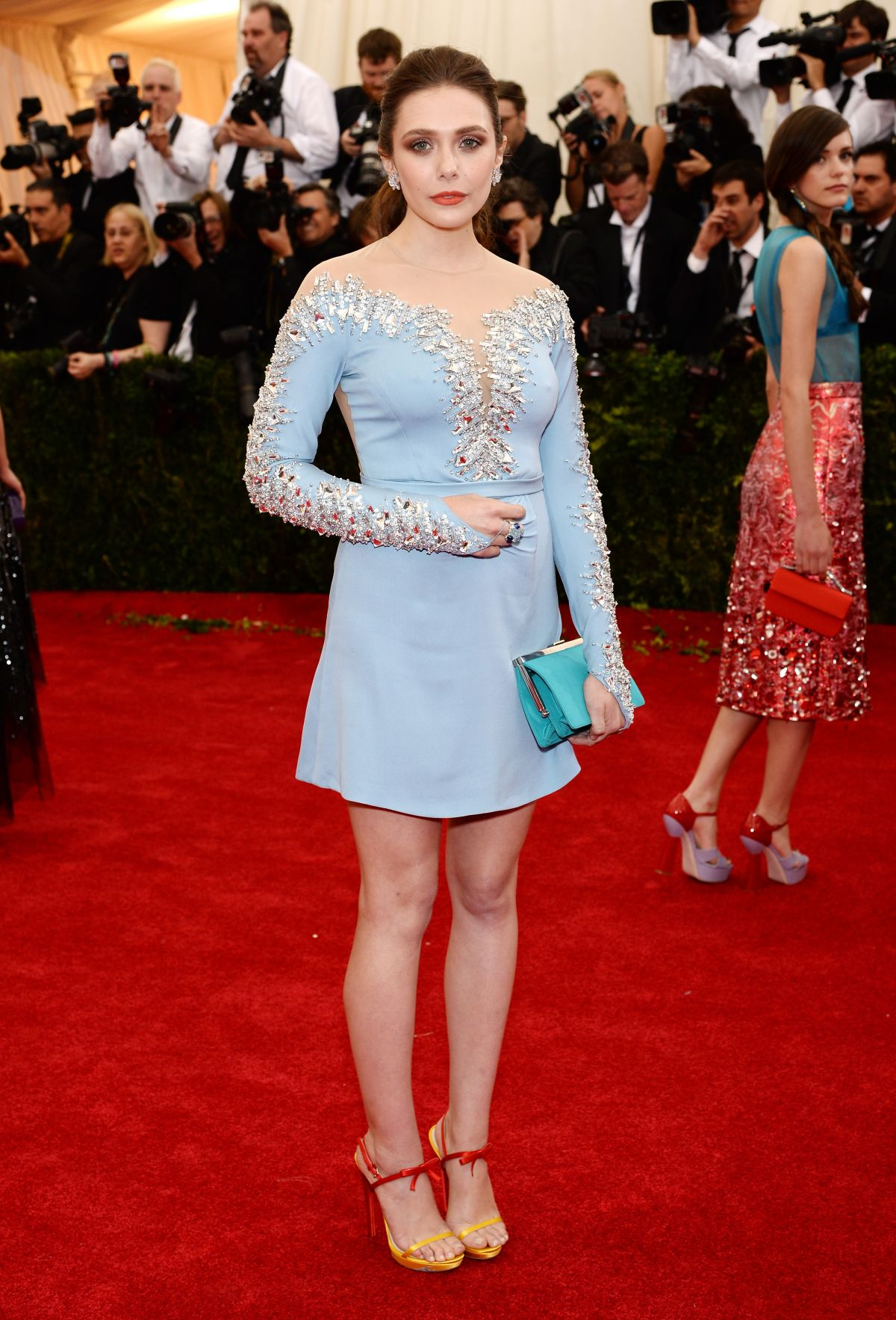 ELIZABETH OLSEN at MET Gala 2014 in New York