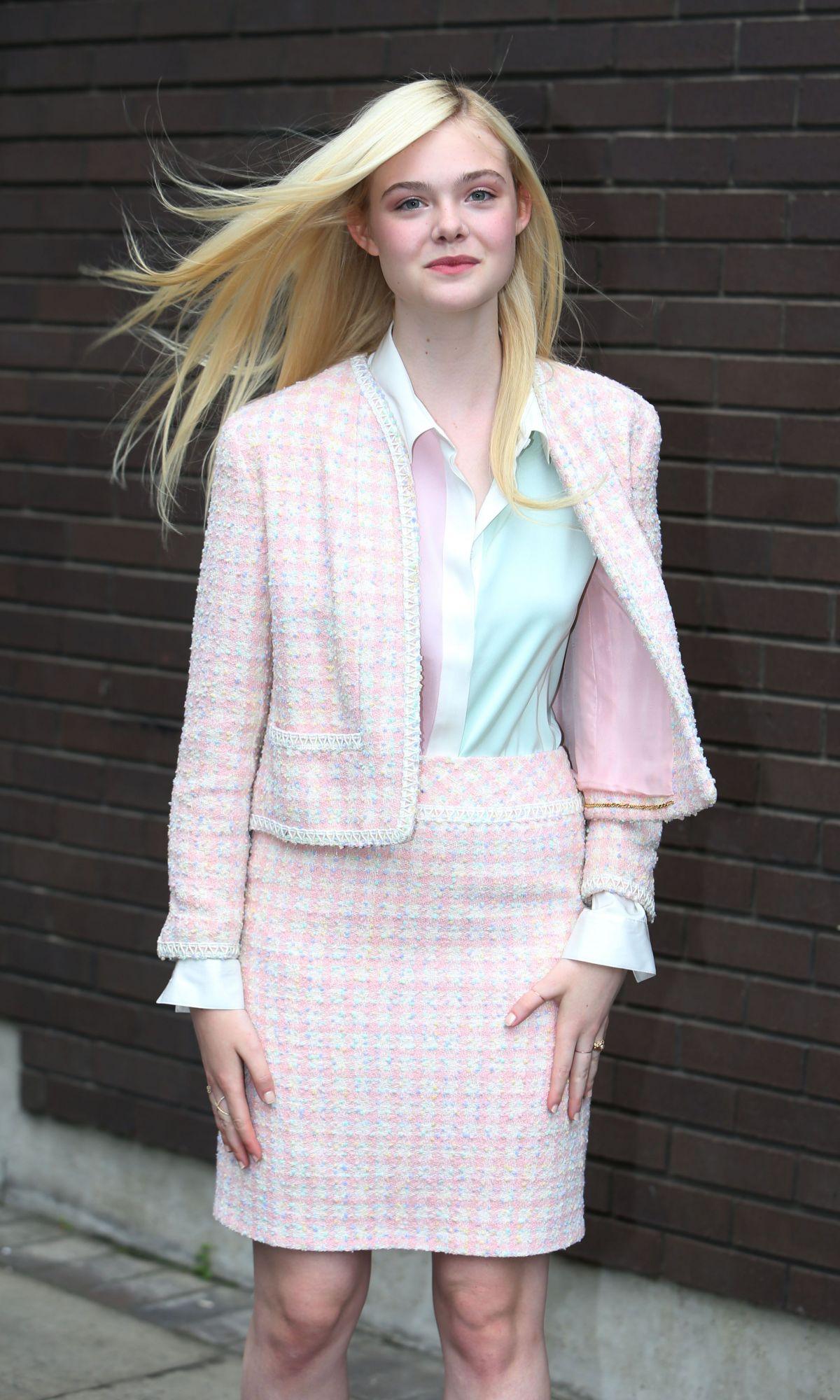 ELLE FANNING Leaves ITV Studios in London