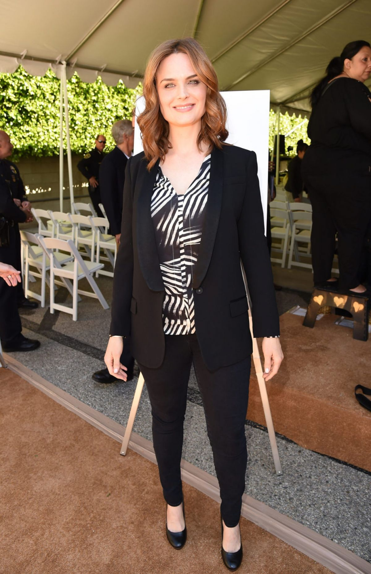 EMILY DESCHANEL at Rape Foundation Event in Santa Monica